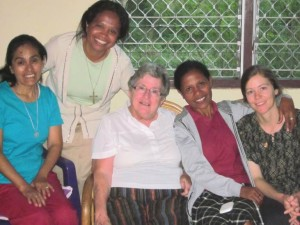 In February, our Sisters' community met with Joana da Costa, an aspirant of Maryknoll Sisters (seated left of me, on the right).